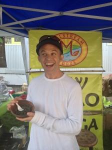 Veg Fest Vendor sharing his enthusiasm